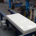 Sliding roof hatch for car park
