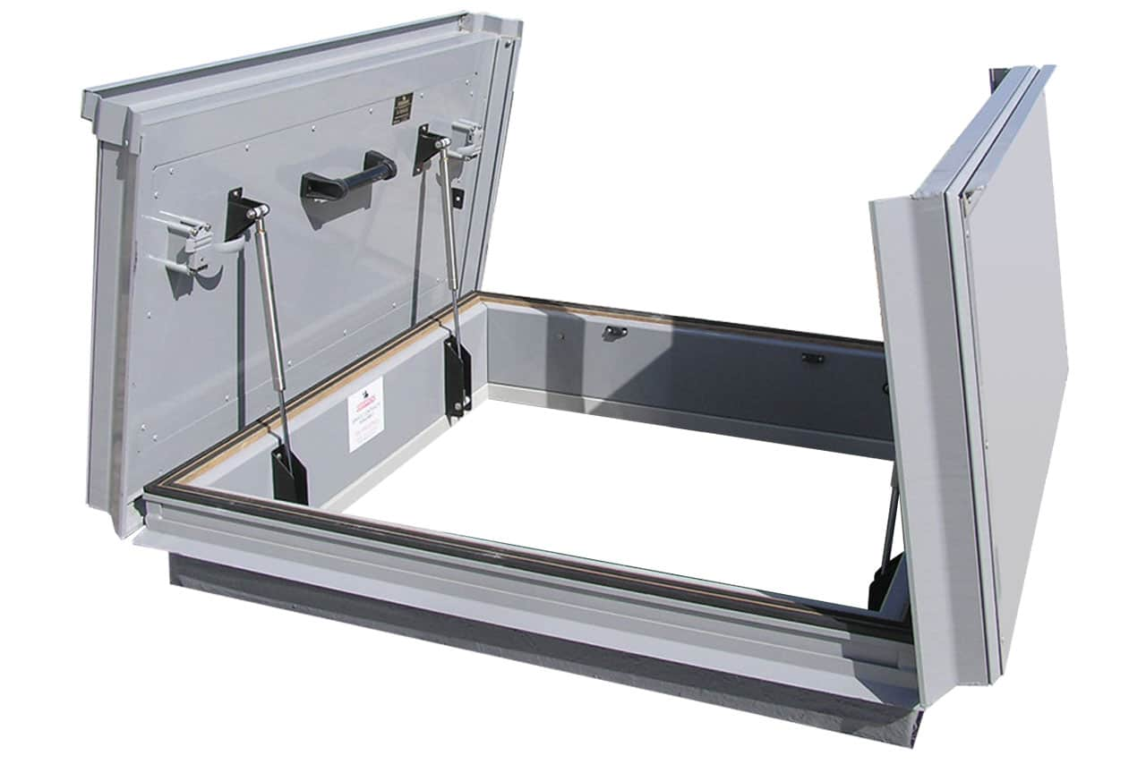 Double roof access cover