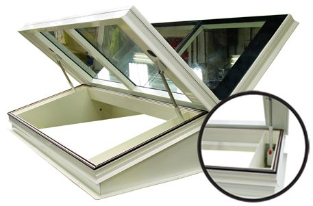 Roof Hatch with Hidden Actuators