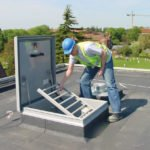 Roof Hatch with Safety Grid