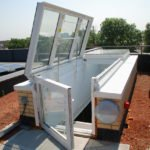 Boxed rooflights for terraced roofs
